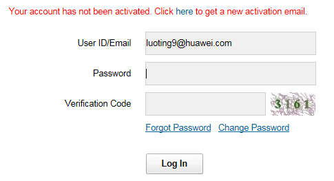 Huawei Website Account